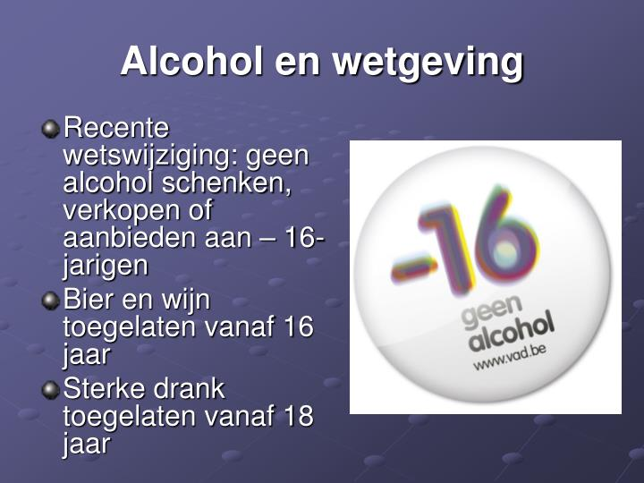 Alcohol en wetgeving