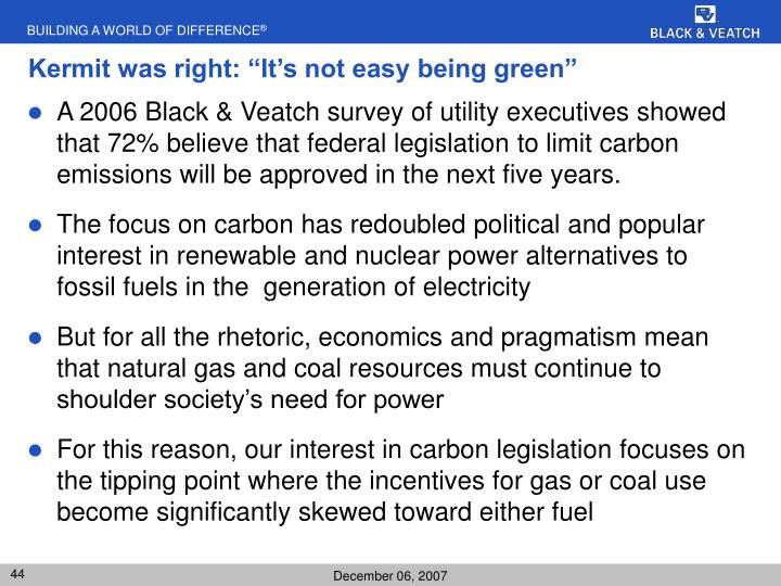 """Kermit was right: """"It's not easy being green"""""""