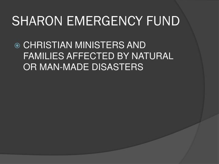 SHARON EMERGENCY FUND