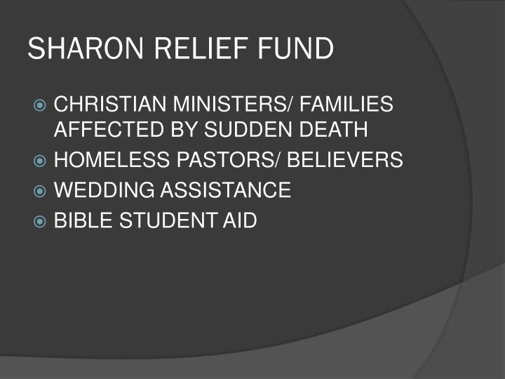 SHARON RELIEF FUND