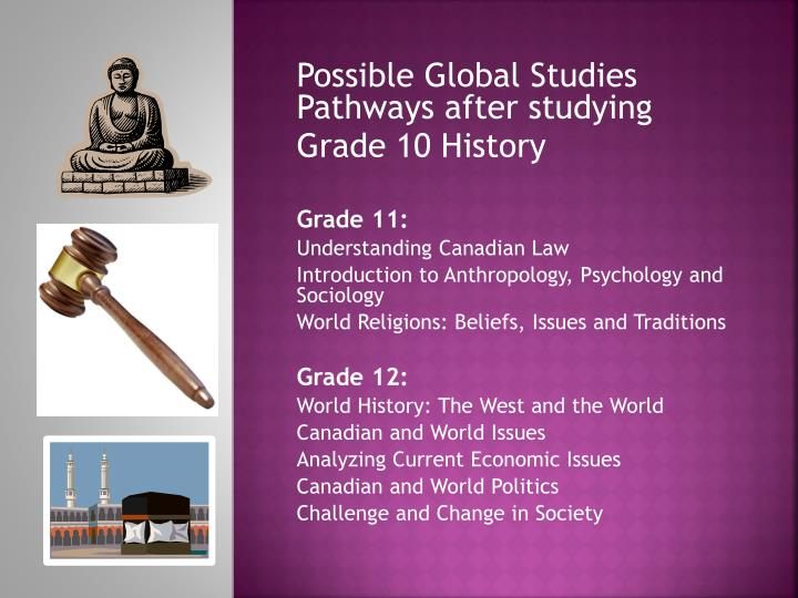 Possible Global Studies Pathways after studying