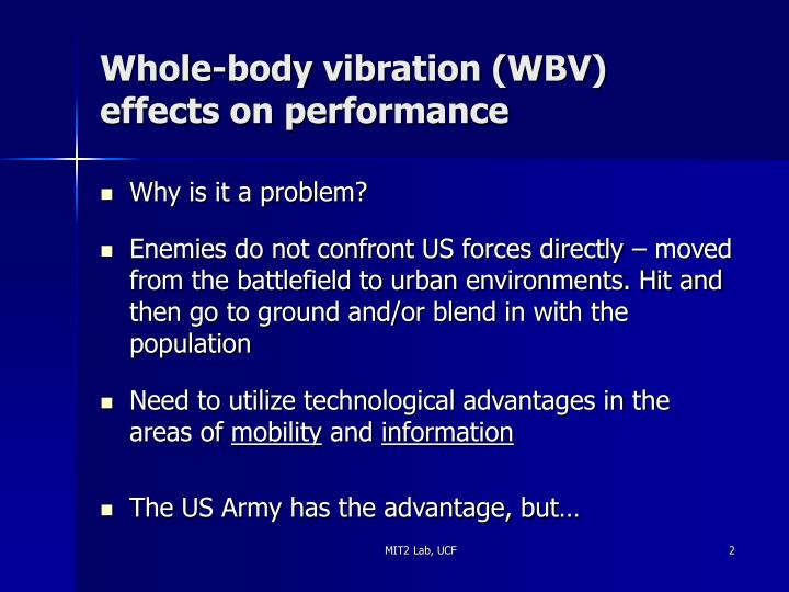Whole body vibration wbv effects on performance