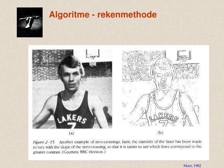 Algoritme - rekenmethode