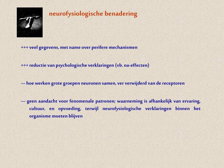 neurofysiologische benadering