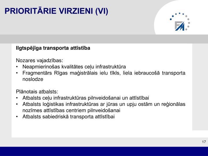 Prioritārie virzieni (VI)