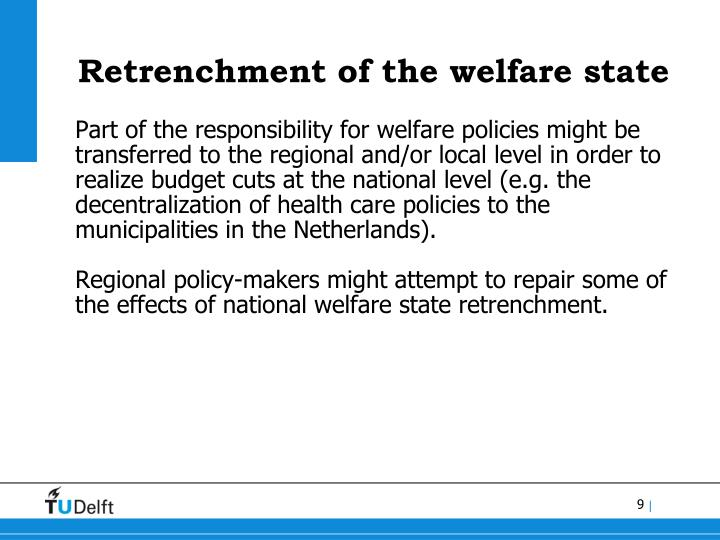 Retrenchment of the welfare state