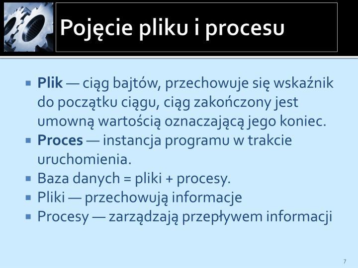 Pojęcie pliku i procesu