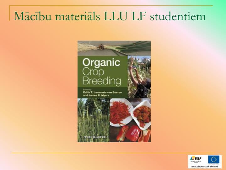 Mācību materiāls LLU LF studentiem