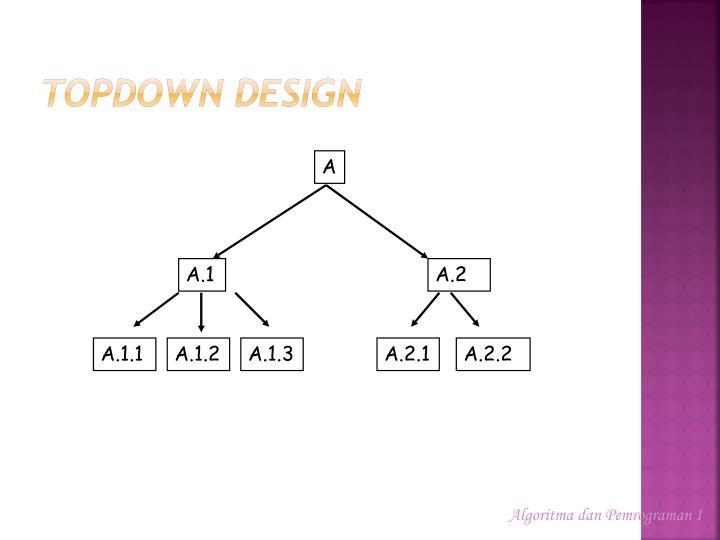 TopDown Design