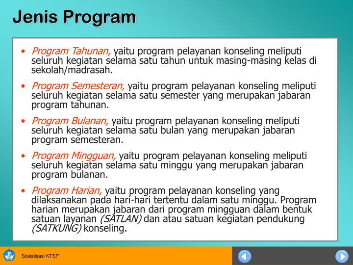 Jenis Program