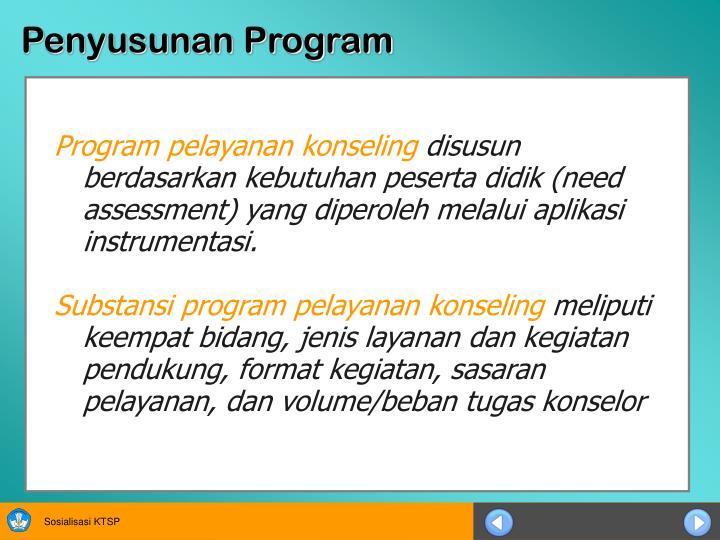 Penyusunan Program