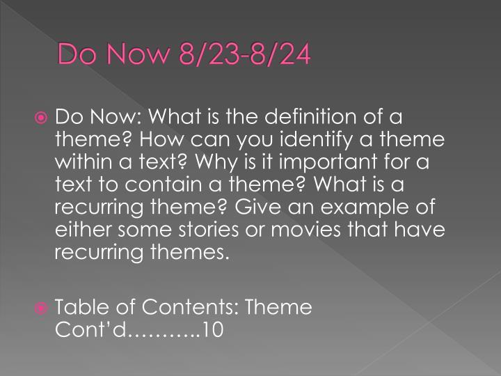 Do Now 8/23-8/24