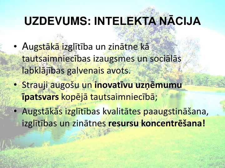 UZDEVUMS: