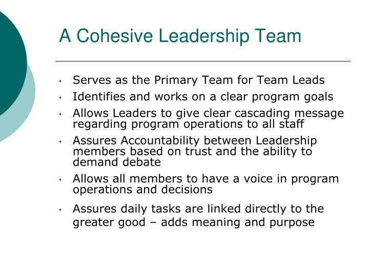 A Cohesive Leadership Team