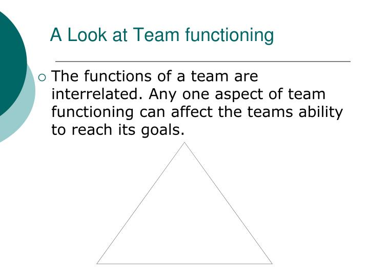A Look at Team functioning