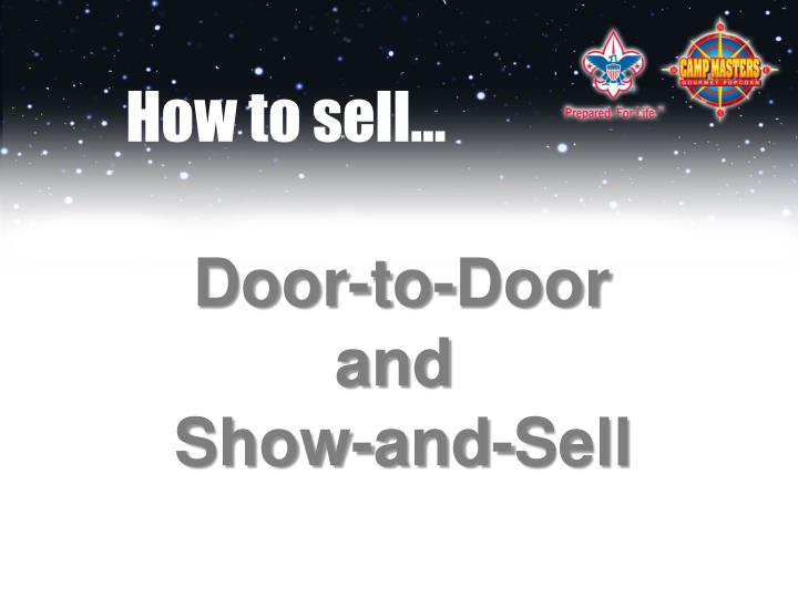 How to sell…