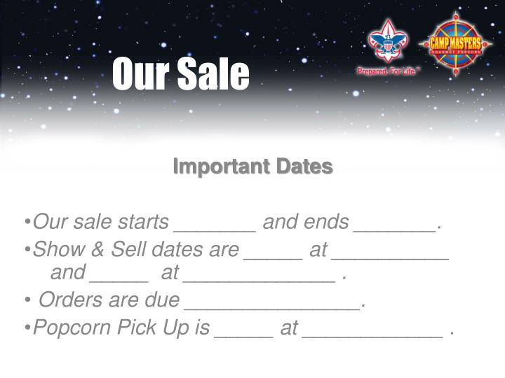 Our Sale