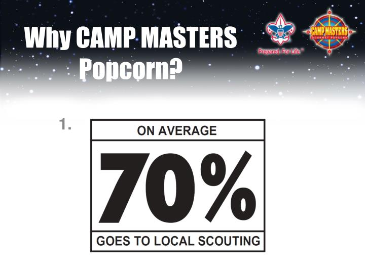 Why CAMP MASTERS Popcorn?