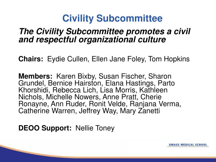 Civility Subcommittee