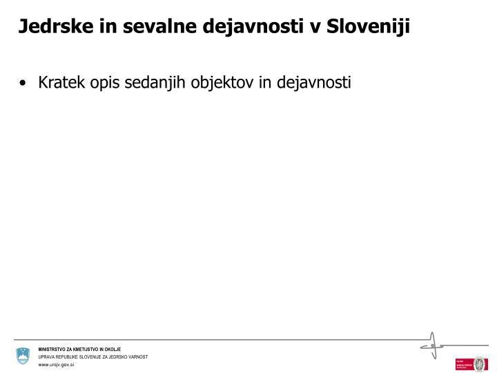 Jedrske in sevalne dejavnosti v Sloveniji