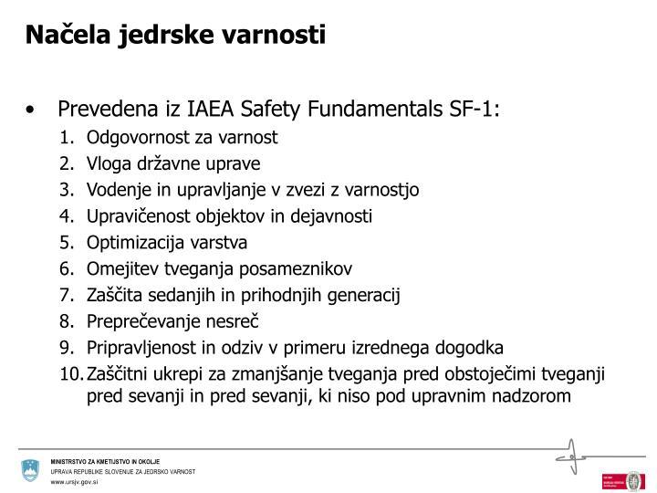 Načela jedrske varnosti