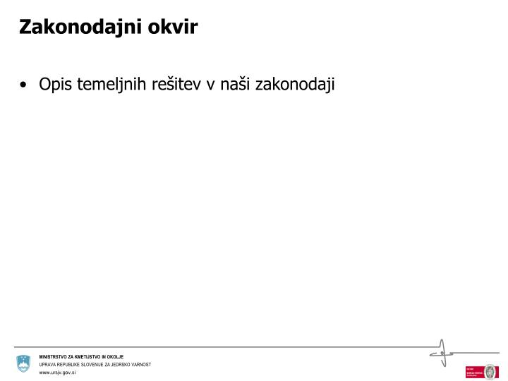 Zakonodajni okvir