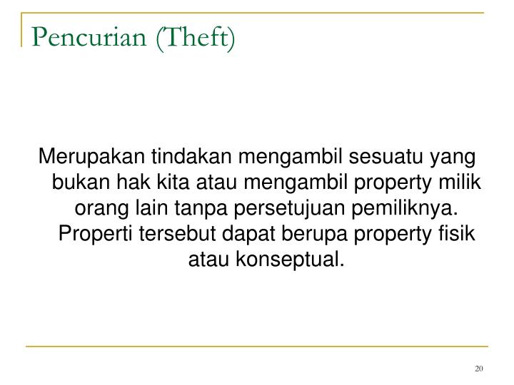 Pencurian (Theft)