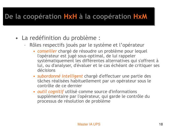 De la coopération