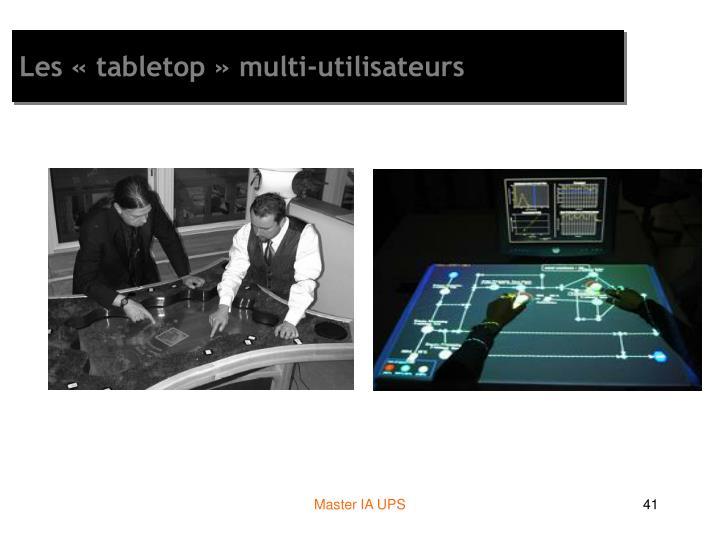 Les «tabletop» multi-utilisateurs