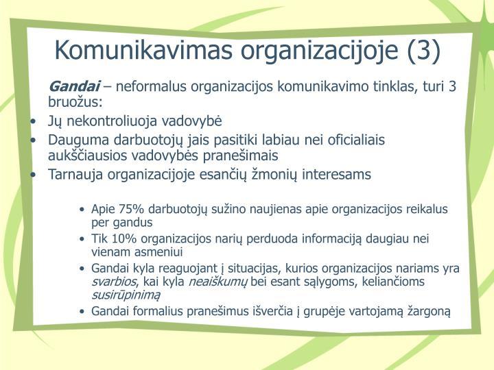 Komunikavimas organizacijoje (