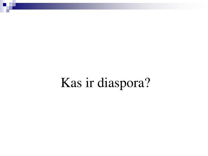 Kas ir diaspora