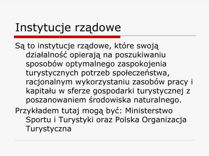 Instytucje rządowe