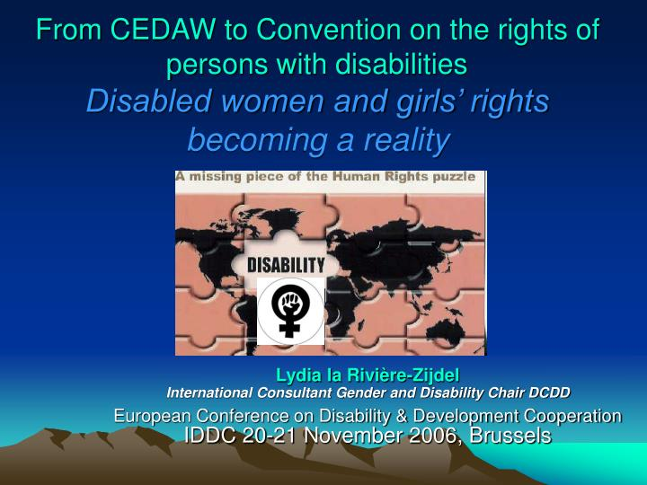 From CEDAW to Convention on the rights of persons with disabilities