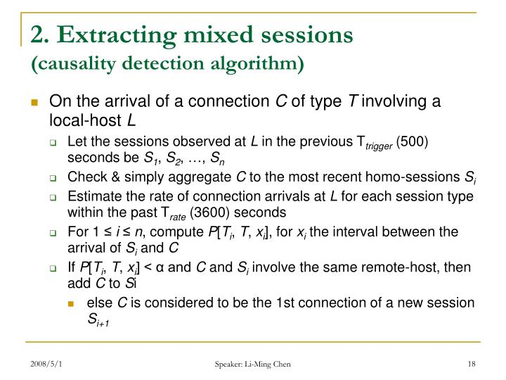 2. Extracting mixed sessions