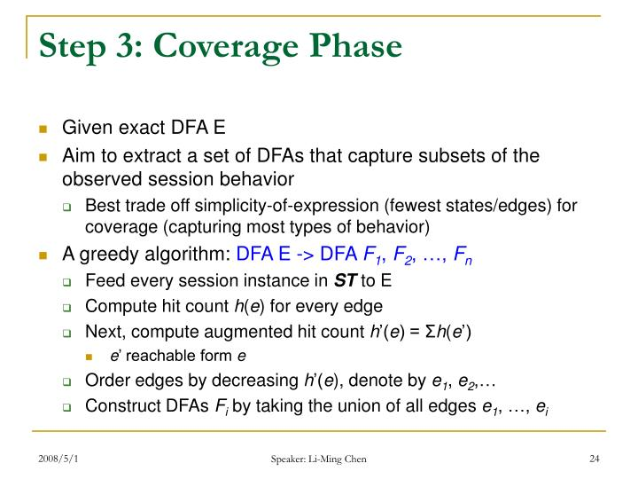Step 3: Coverage Phase
