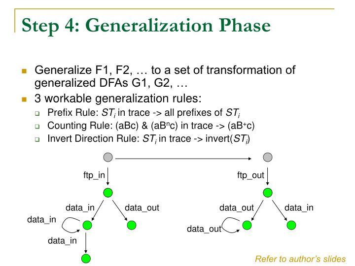 Step 4: Generalization Phase