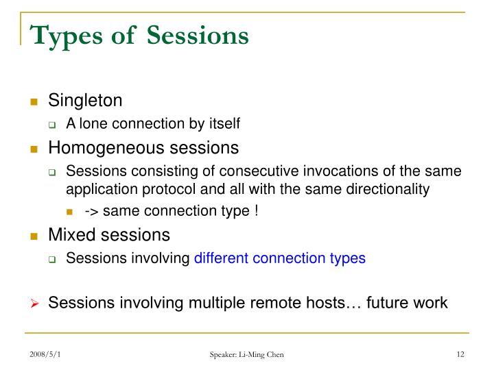 Types of Sessions