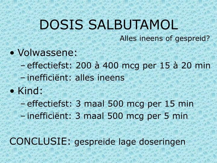 DOSIS SALBUTAMOL