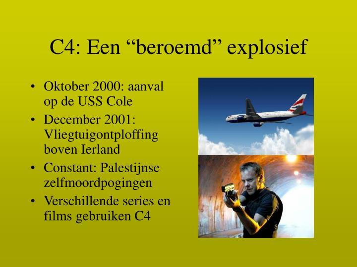 """C4: Een """"beroemd"""" explosief"""