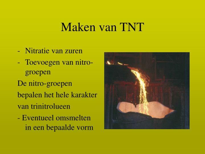 Maken van TNT