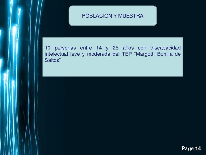 POBLACION Y MUESTRA