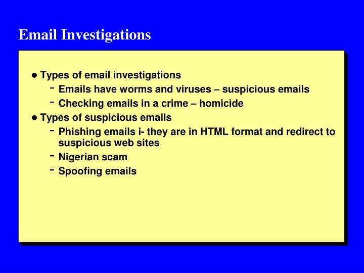 Email Investigations