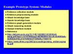 example prototype system modules