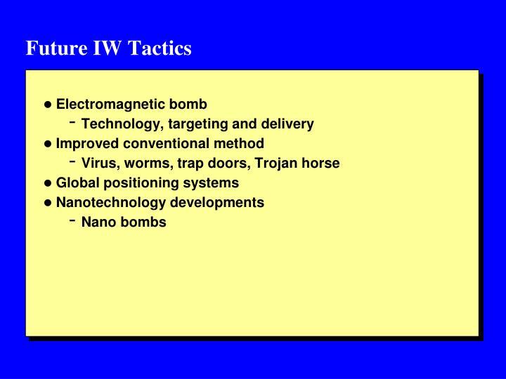 Future IW Tactics
