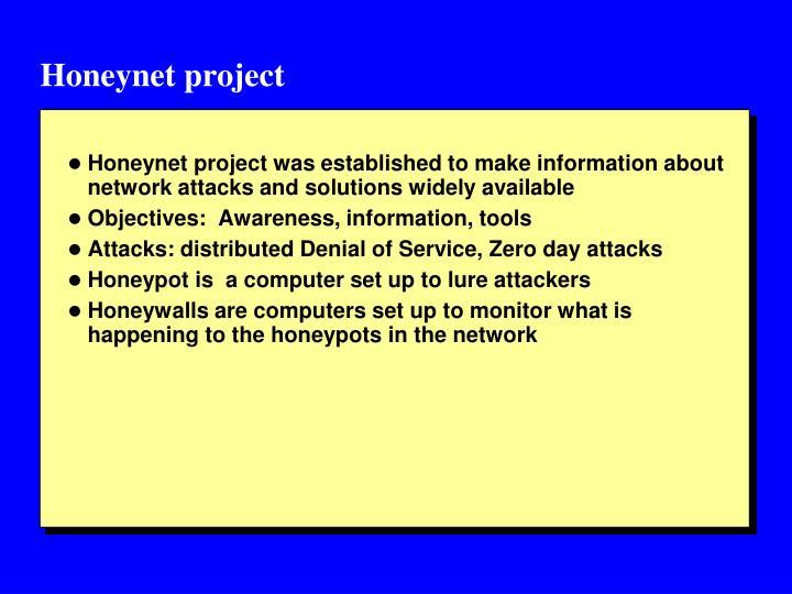 Honeynet project