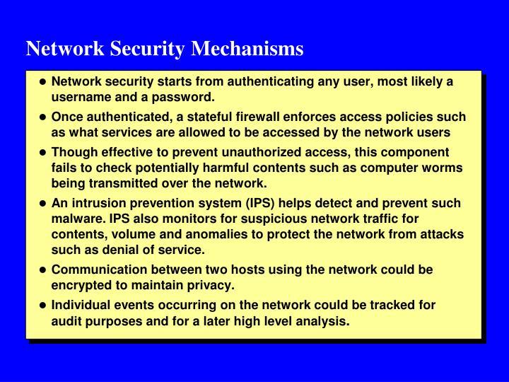 Network Security Mechanisms