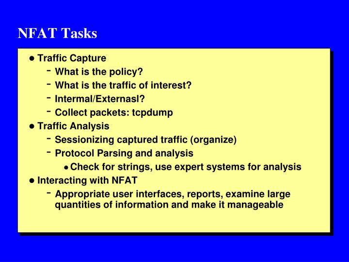 NFAT Tasks