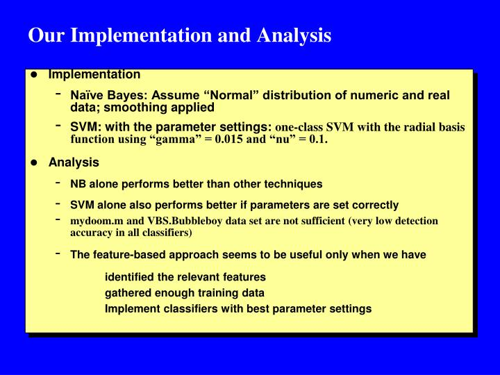 Our Implementation and Analysis