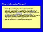 what is information warfare