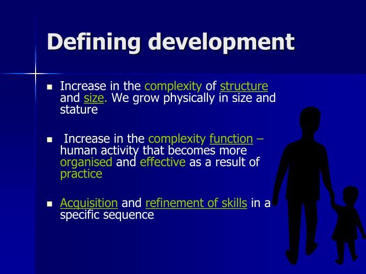 Defining development